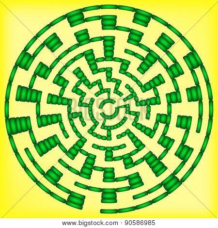 Green Round Maze (10 Circles)