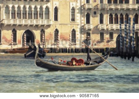 Venice - travel romantic pleace. Blured view.