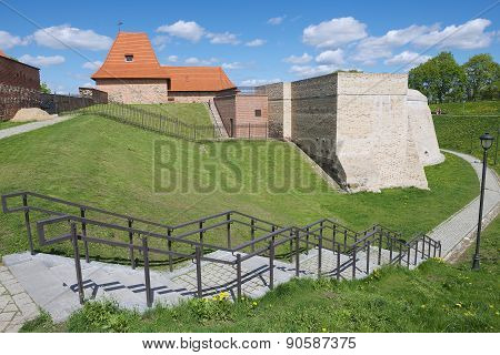 Exterior of the Barbacan bastion of the old town of Vilnius, Lithuania.