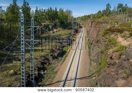 Railway thru the rocks