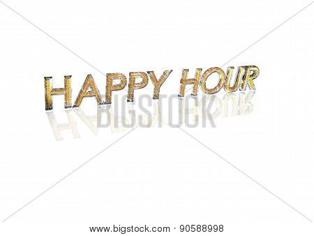Word Happy Hour Made From Percentage Symbols.