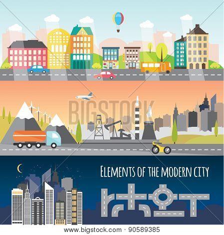 Different City Elements