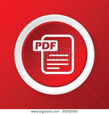 PDF file icon on red