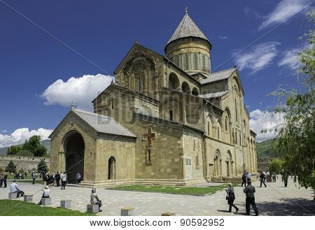 Mtskheta, Georgia - May 01, 2015: Svetitskhoveli Cathedral (11th century) as on October 22., 2014 in Mtskheta. Mtskheta one of the oldest cities of Georgia, is located 20 km north of Tbilisi.