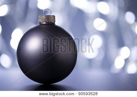 Christmas ball with Christmas lighting ,selective focus