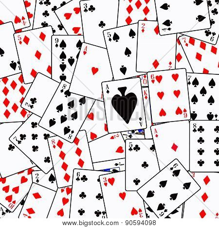 Random Playing Card Background