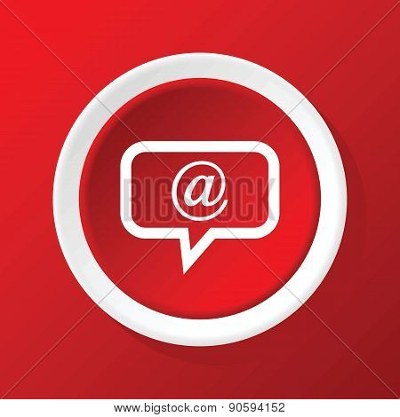 Mail message icon on red