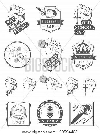 Set Badges Rap Music