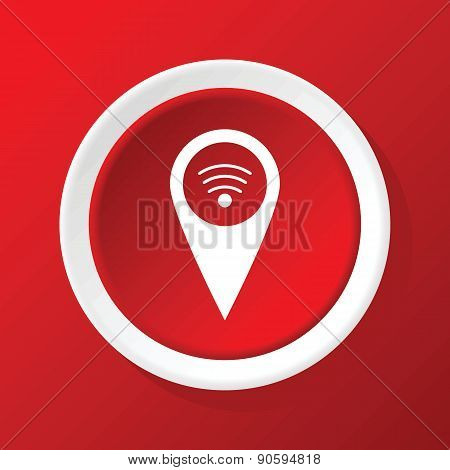 Wi-Fi pointer icon on red