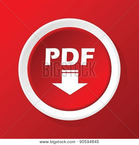 PDF download icon on red