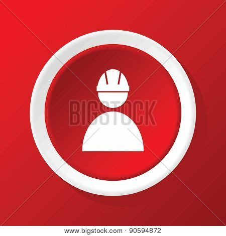 Builder icon on red