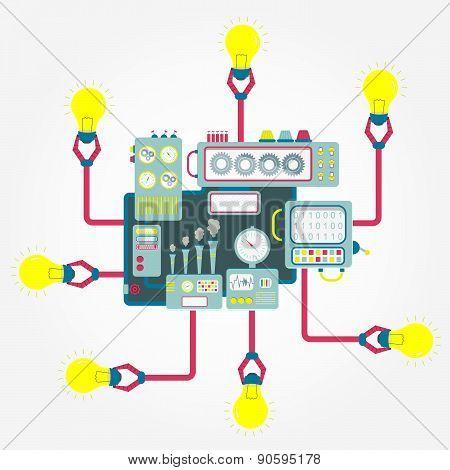 Machine With Light Bulbs