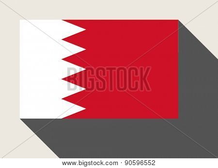 Bahrain flag in flat web design style.