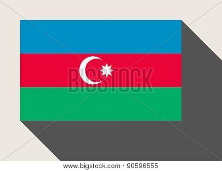 Azerbaijan flag in flat web design style.