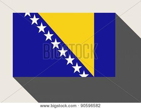 Bosnia and Herzegovina flag in flat web design style.