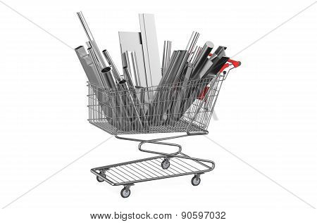 Shopping Cart With Rolled Metal
