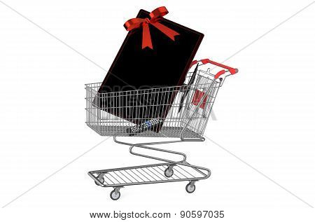 Shopping Cart With Tv Set