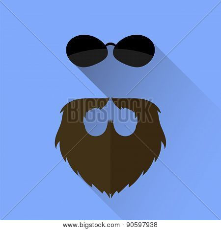 Beard and Sunglasses Icon