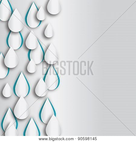 Raindrop vector background