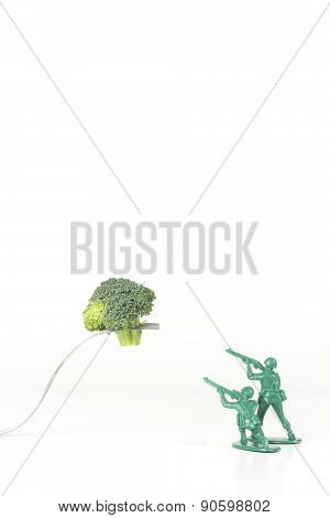 Army Men Attack Fork