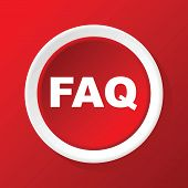 pic of faq  - Vector round white icon with text FAQ - JPG