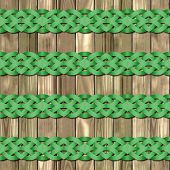 stock photo of celtic  - Celtic waves decoration generated seamless texture or background - JPG