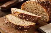 stock photo of whole-wheat  - Organic Homemade Whole Wheat Bread Ready to Eat - JPG