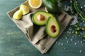 picture of cucumber slice  - Sliced avocado - JPG