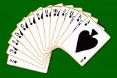 stock photo of spade  - The playing card in the suit of Spades - JPG