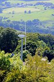 pic of broadway  - Wind generator in the valley near Broadway Worcestershire England UK Western Europe - JPG