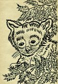 pic of panda  - Grunge sketch of a cute red panda hand drawn illustration - JPG