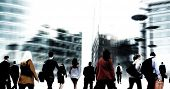 picture of hustle  - Commuter Buiness People Corporate Cityscape Walking Travel Concept - JPG