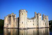 image of castle  - Bodiam Castle near Robertsbridge - JPG