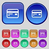 picture of debit card  - Credit debit card icon sign - JPG