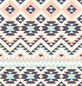 picture of eastern culture  - seamless pattern with ethnic aztec ornament - JPG
