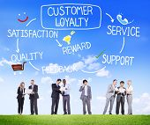 stock photo of loyalty  - Customer Loyalty Satisfaction Support Strategy Concept - JPG