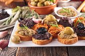 picture of canapes  - buffet food - JPG