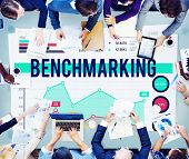 picture of benchmarking  - Bench marketing Finance Stock Marketing Business Concept - JPG