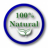 pic of 100 percent  - 100 percent natural icon - JPG