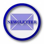 stock photo of newsletter  - Newsletter icon - JPG