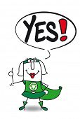 picture of yes  - Yes super recycling woman - JPG