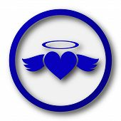 picture of blue angels  - Heart angel icon - JPG