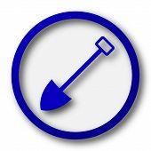 pic of shovel  - Shovel icon - JPG