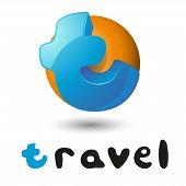 foto of letter t  - Travel Hand Lettering letter t logo - JPG
