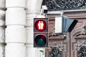 pic of homogeneous  - Traffic light Vienna for more tolerance stoplight with same-sex symbol