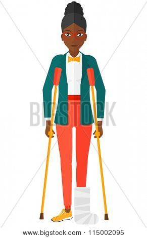 Patient with broken leg.