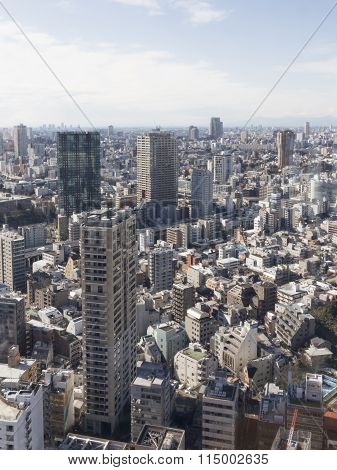 Urban Cityscape, View From Tokyo Tower