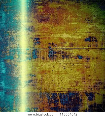 Old abstract grunge background for creative designed textures. With different color patterns: yellow (beige); brown; blue; green; cyan
