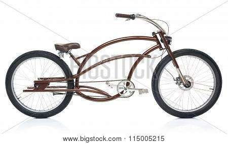 Retro Styled Bicycle Isolated On A White