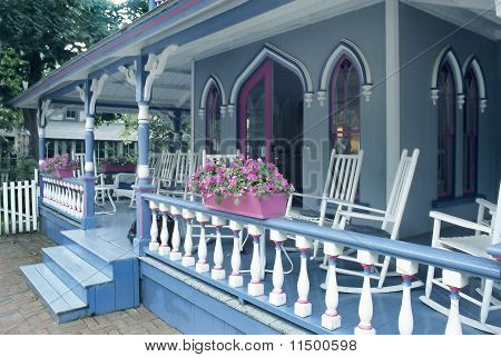 Porch on gingerbread house
